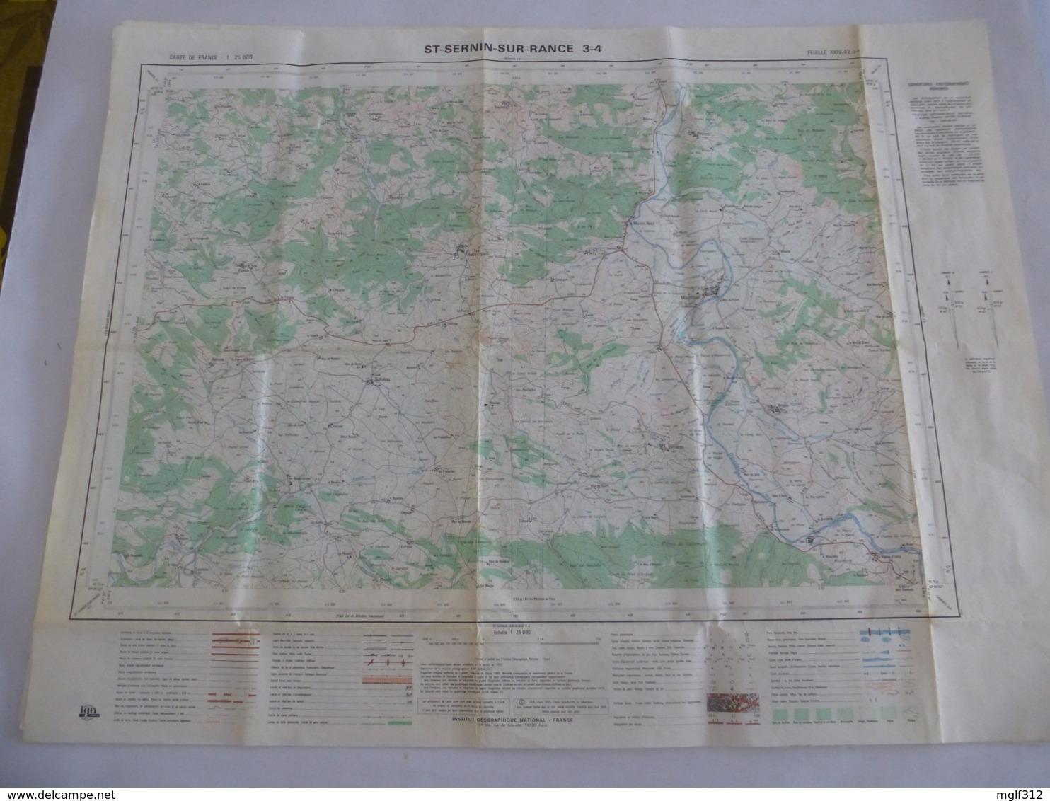 SAINT SERNIN SUR RANCE  (12) CARTE  IGN Au 1/25000 - Feuille 3/4 - Détails Voir Les Scans - Topographical Maps