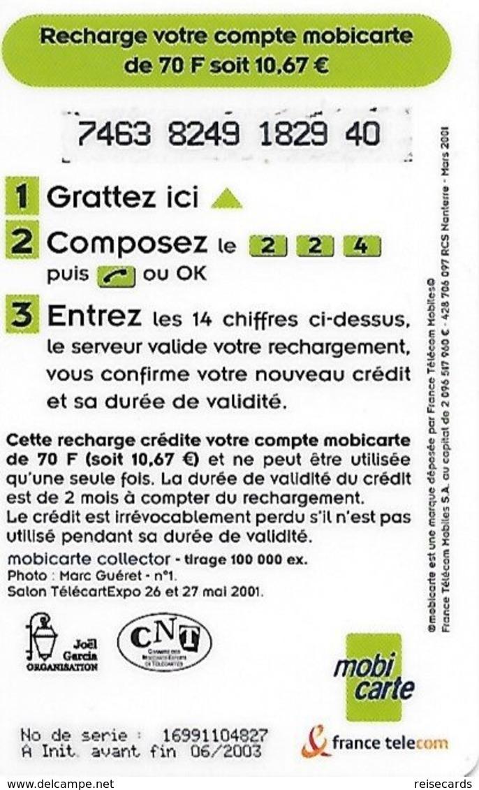 France: France Telecom, Mobicarte - TélécarteExpo Paris 2001 - Frankreich
