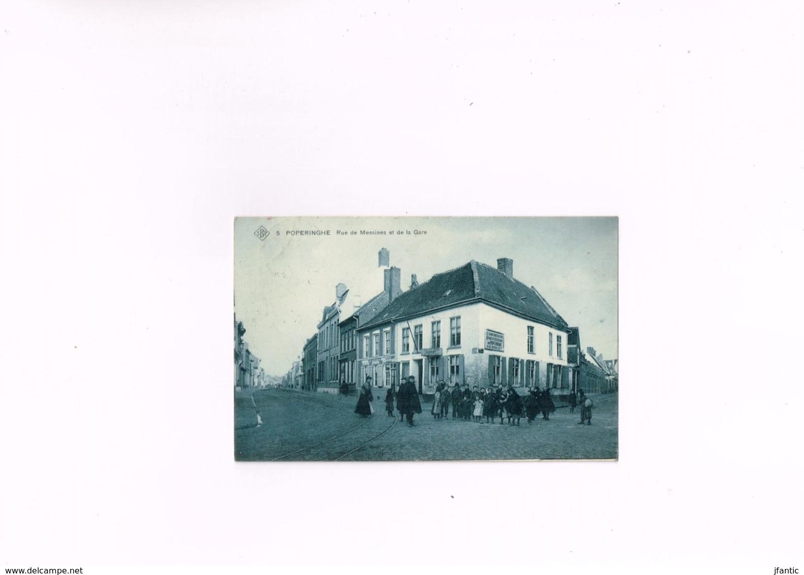 Poperinghe Rue De Messines Et De La Gare,Edit Sansen Decorte Poperinghe Société Anonyme Belge De Phototypie Bruxl 1908 - Ieper