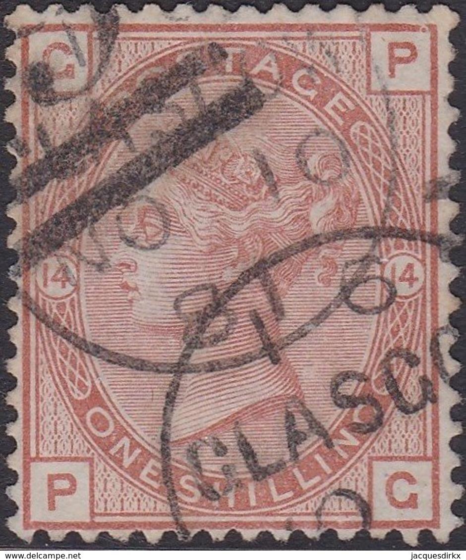 England  .   SG   163    ( 2 Scans ) .  Wmk  Imp. Crown    .  O   .    Cancelled .   /   .   Gebruikt - Oblitérés