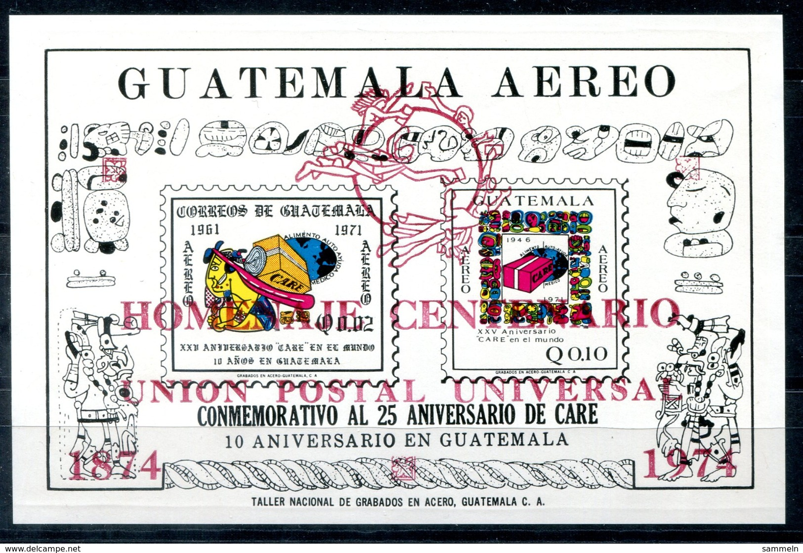 5048 - GUATEMALA - Block 16 B ** - UPU - Mnh Mini Sheet - Guatemala
