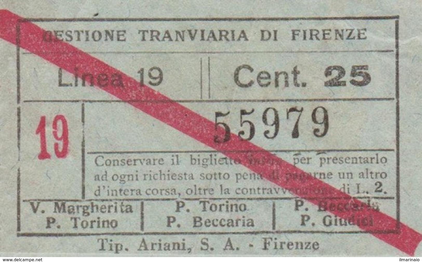 ** GESTIONE TRANVIARIA DI FIRENZE.-** - Tram