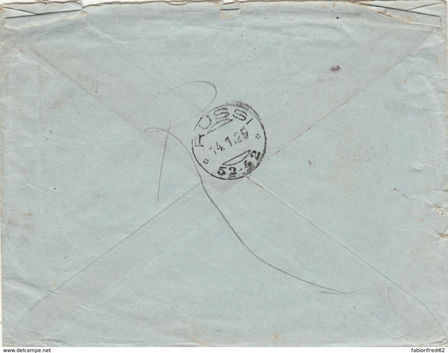LETTERA 1925 50 C. PERFIN MERCHESETTI TIMBRO VERONA RUSSI (IX1186 - Storia Postale