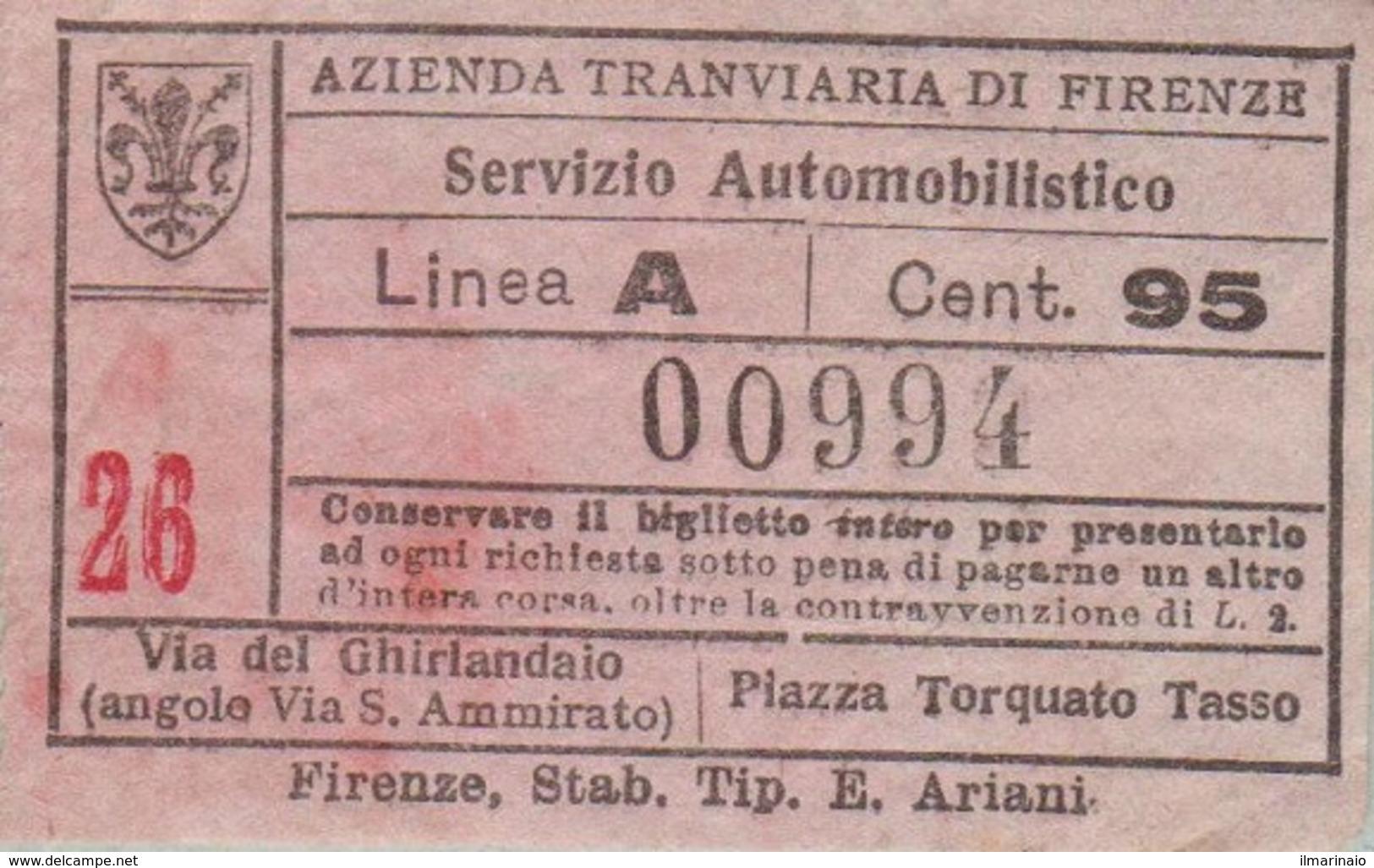** AZIENDA TRANVIARIA DI FIRENZE.-** - Tram