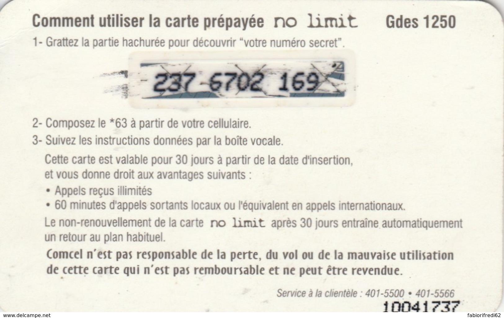 PREPAID PHONE CARD HAITI (E49.5.1 - Haiti