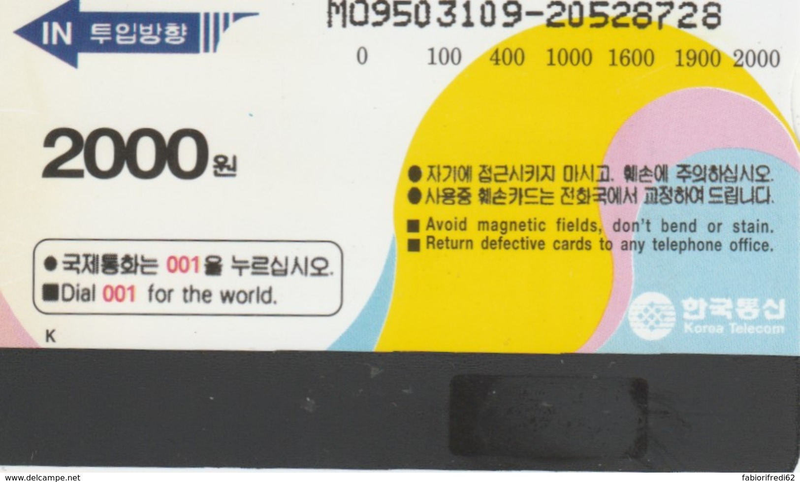 PHONE CARDS COREA (E49.36.1 - Korea (Zuid)