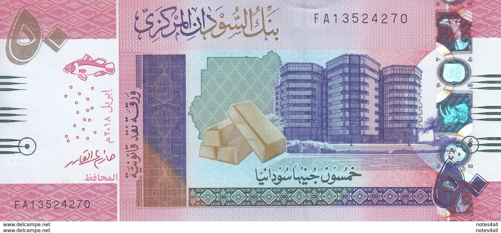 SUDAN 50 POUNDS 2018 P-NEW MATTE PALE COLOR TYPE UNC */* - Sudan