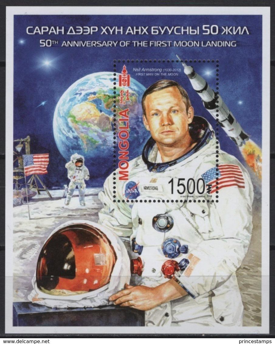 Mongolia (2019) - Block -  /  Espace - Space - Moon - Apollo - Astronaut - Azië