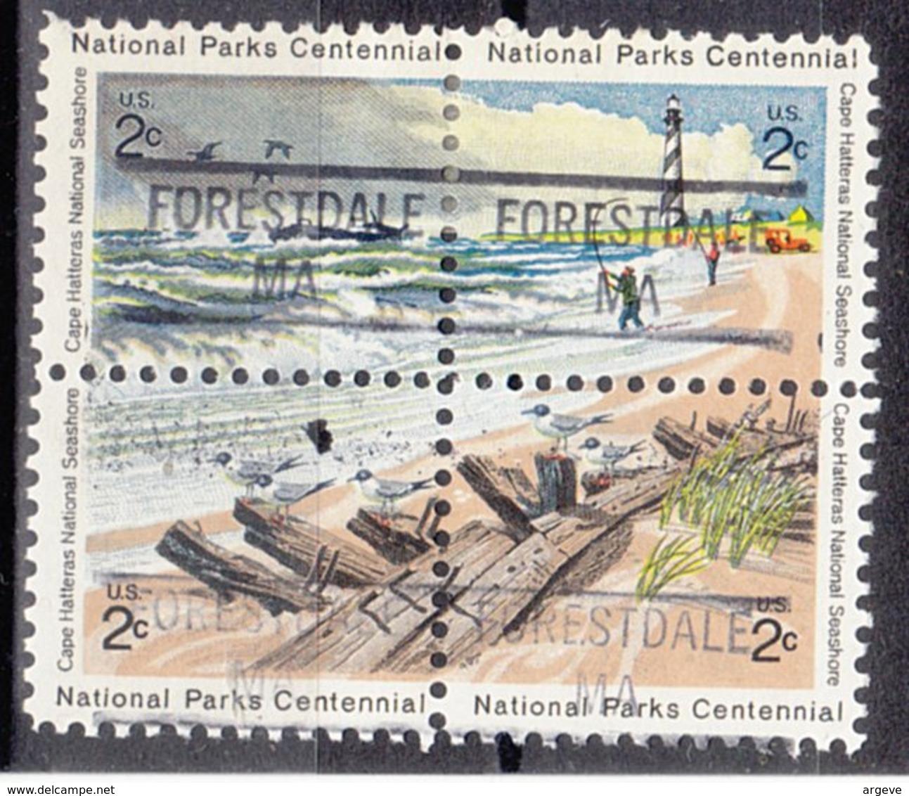 USA Precancel Vorausentwertung Preo, Locals Massachusetts, Forestdale 841, Hatteras Block - Vereinigte Staaten