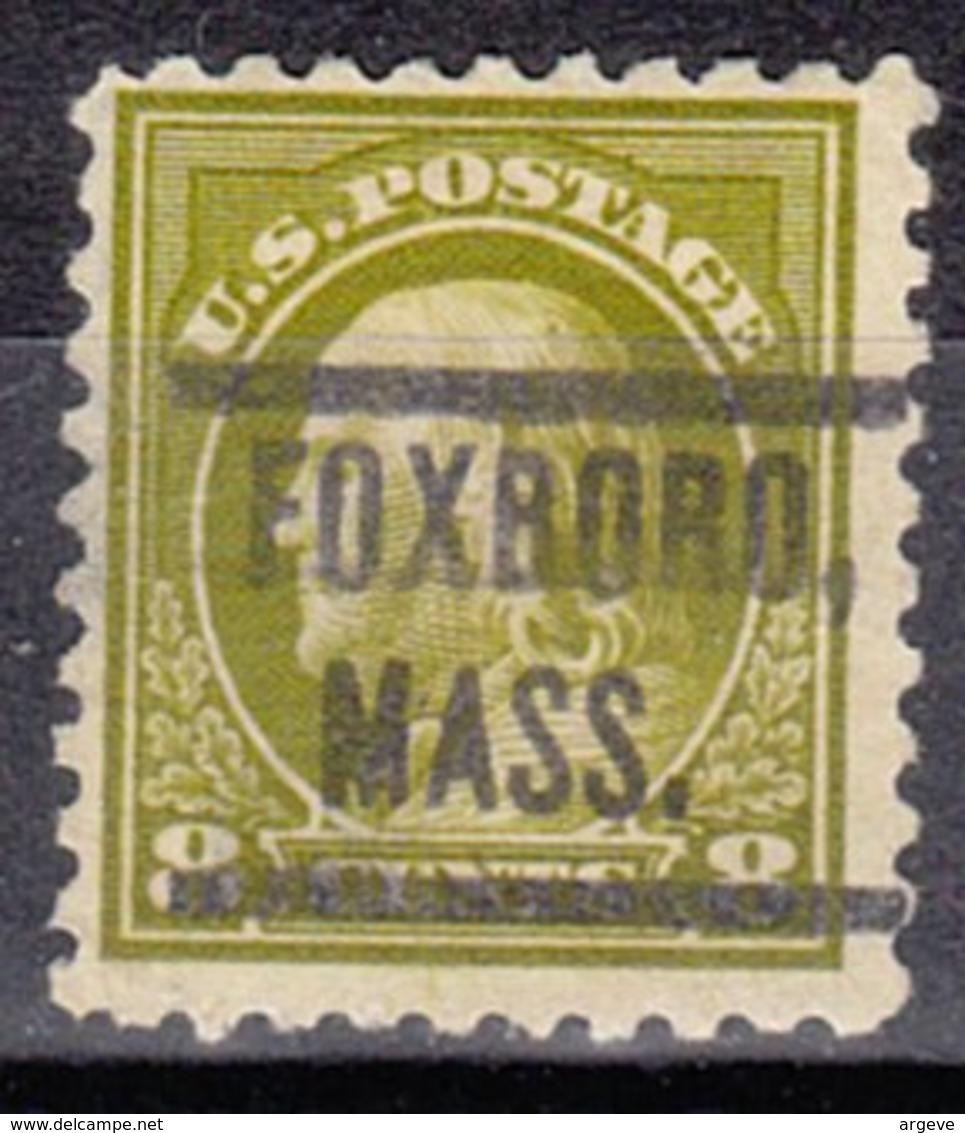 USA Precancel Vorausentwertung Preo, Locals Massachusetts, Foxboro 1914-549, Stamp Thin - Vereinigte Staaten