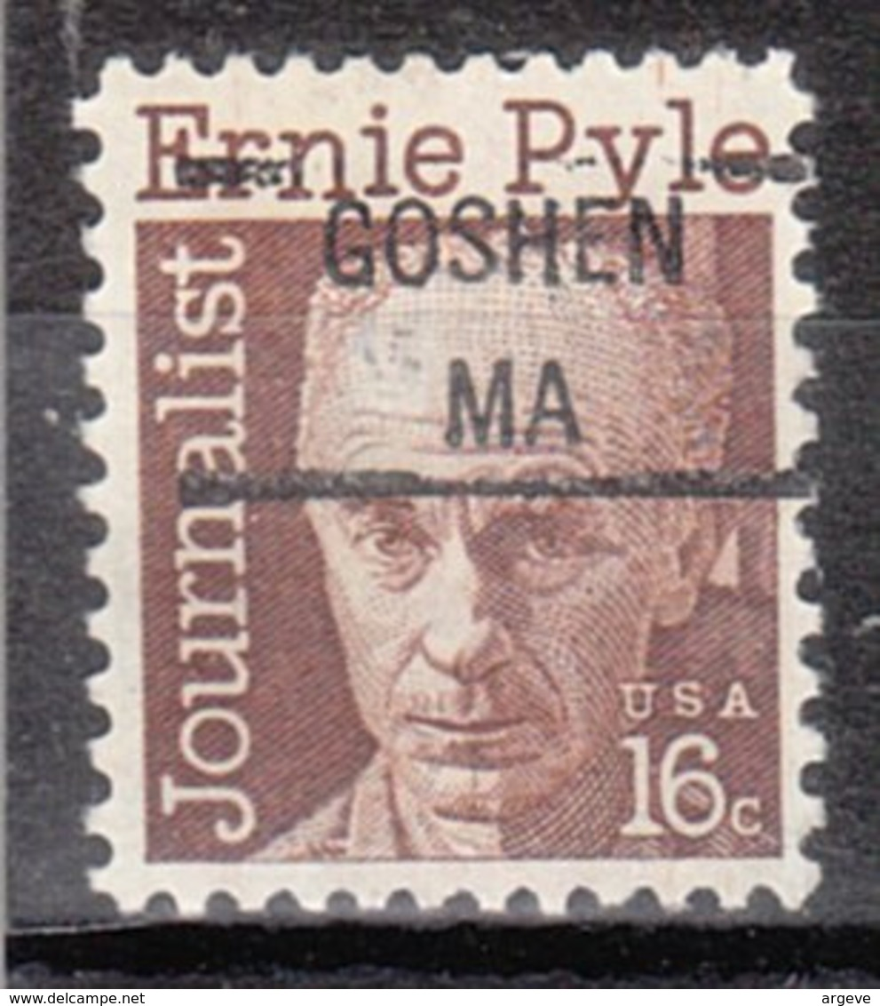USA Precancel Vorausentwertung Preo, Locals Massachusetts, Goshen 841 - Vorausentwertungen