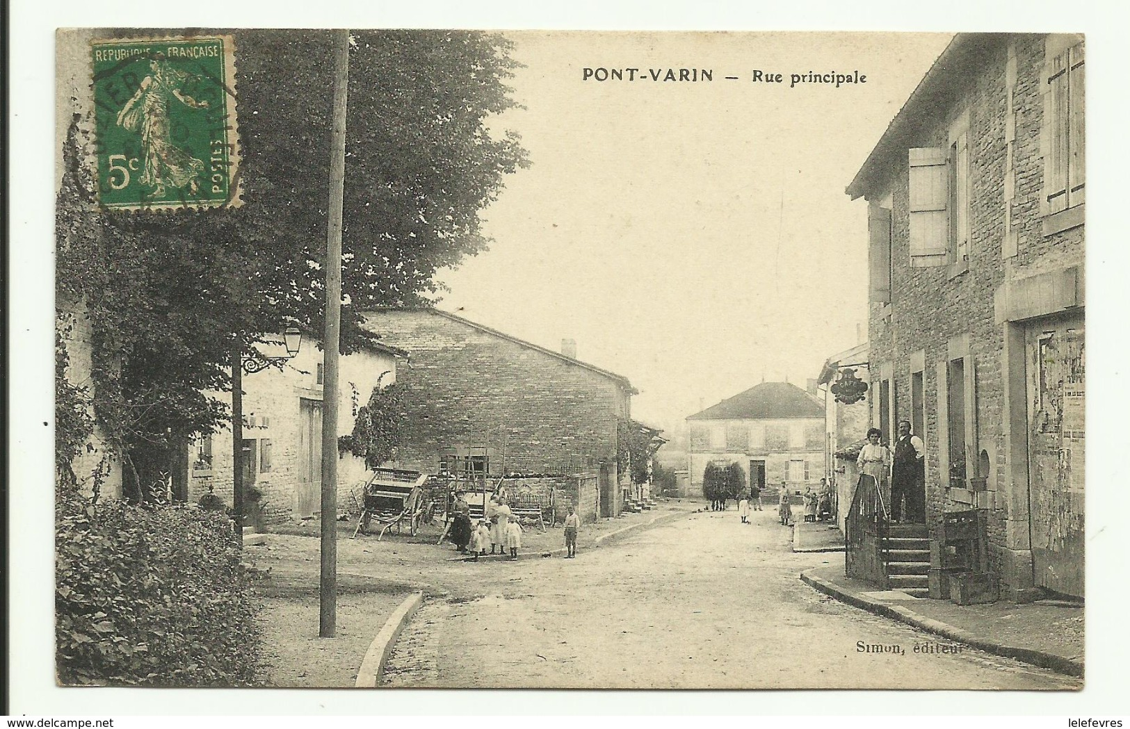 Cpa  PONT - VARIN ,  Rue Principale  - 1917 - France