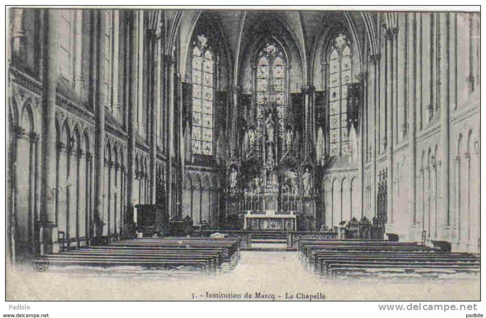 Carte Postale  59. Marcq En Baroeul Intérieur De L'église  Trés Beau Plan - Marcq En Baroeul