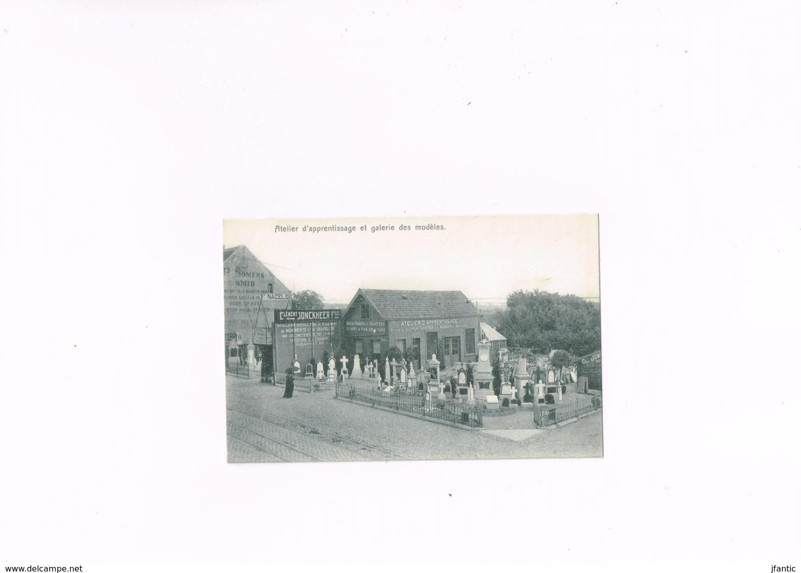 Cément Jonckheer Fils Sculpteur Anvers Atelier D'apprentissage Et Galerie Des Modèles,carte Postale Ancienne 1910-1920. - Antwerpen