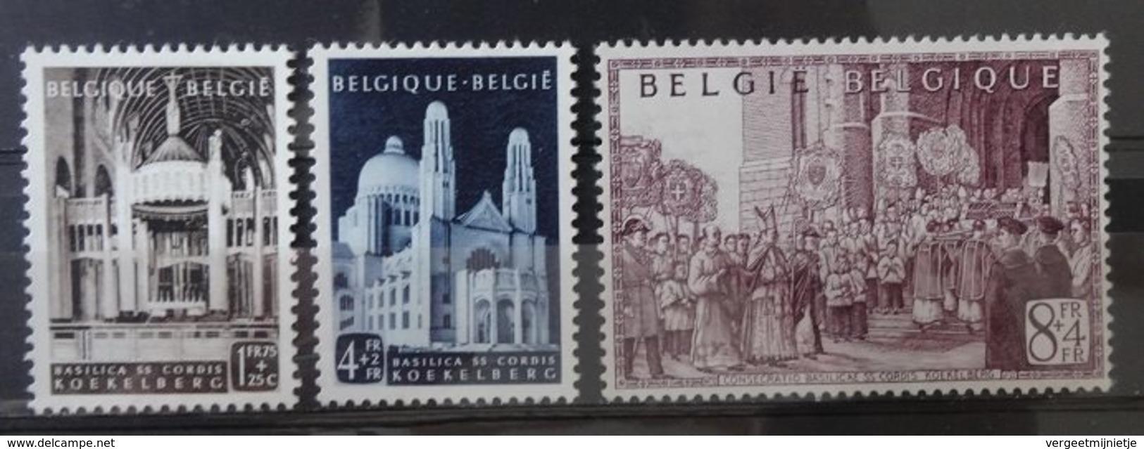 BELGIE  1952   Nr. 876 - 878    Spoor Van Scharnier *     CW  20,00 - Neufs