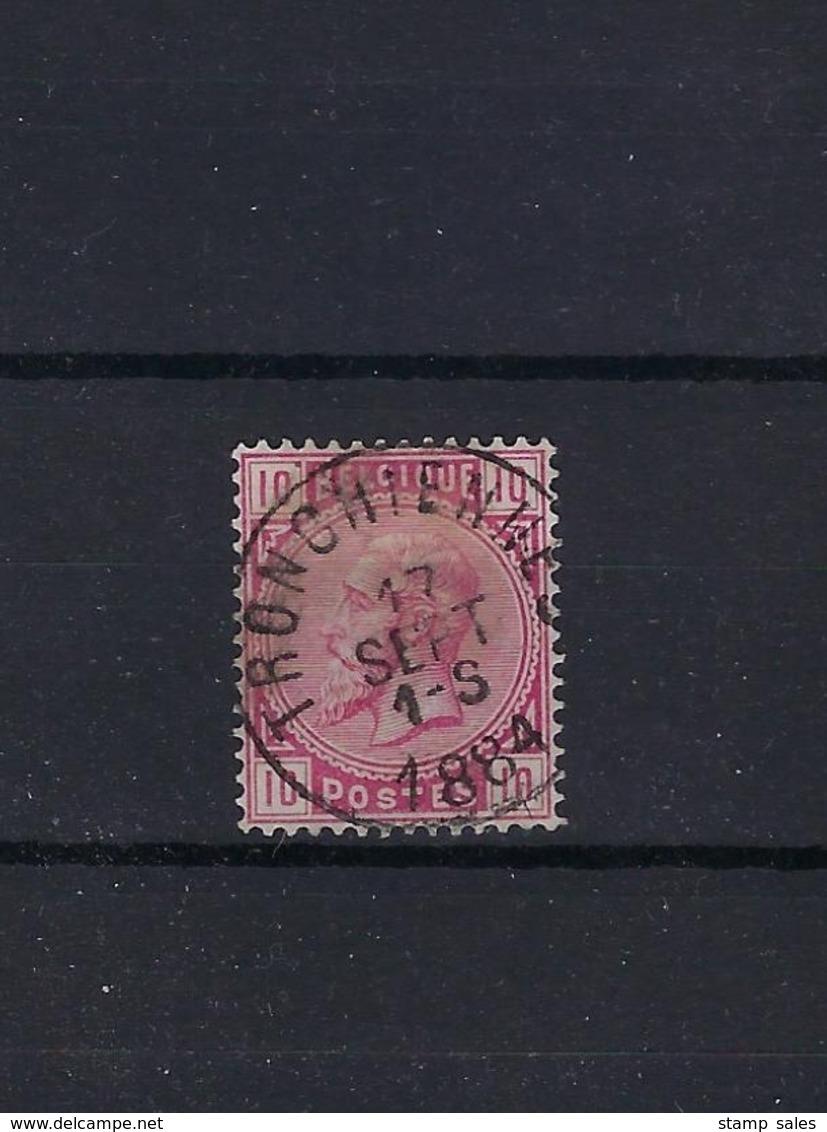 N°38 GESTEMPELD Trochiennes 1884 COBA € 15,00 + COB € 3,00 SUPERBE - 1883 Léopold II
