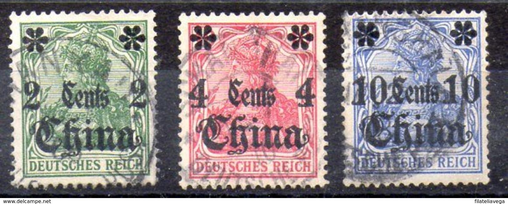 Sellos De Oficina Postal De China Nº Michel 29,30,31 O - Oficina: China