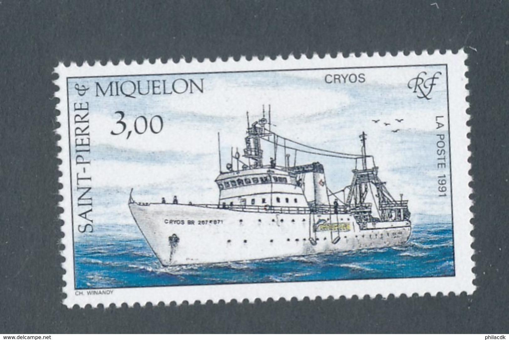 SAINT PIERRE ET MIQUELON - N°YT 550 NEUF** LUXE SANS CHARNIERE - COTE YT : 1€60 - 1991 - St.Pierre & Miquelon