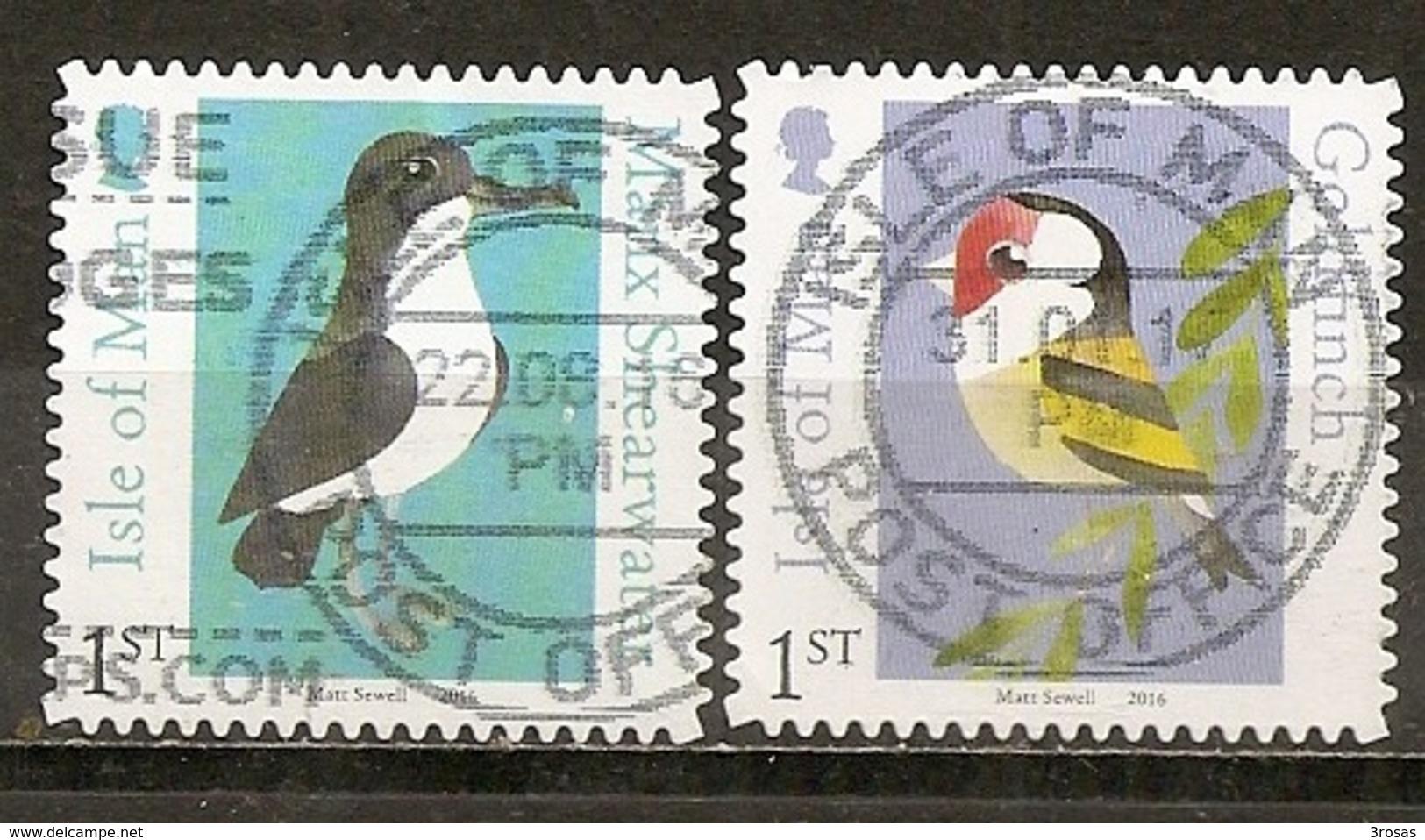 Isle Of Man 2016 Oiseaux Goldfinch Birds Obl - Man (Eiland)