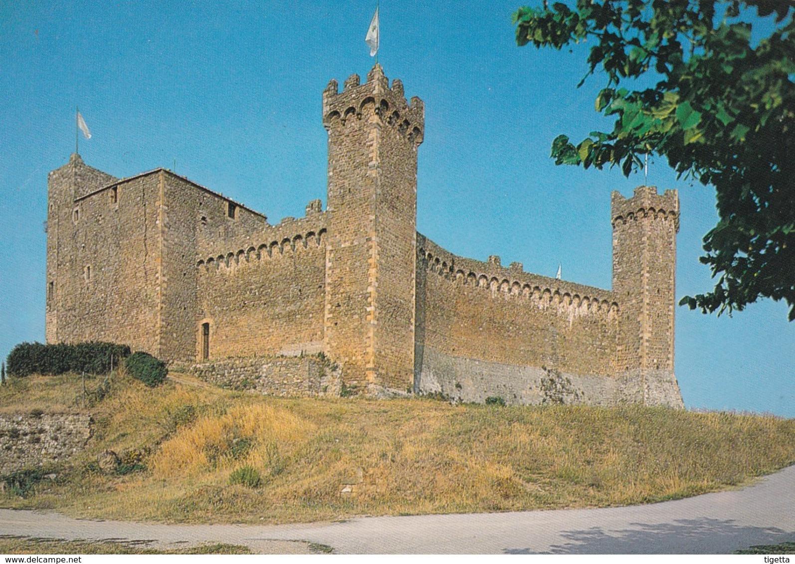 SIENA MONTALCINO FORTEZZA SEC. XIV NON VIAGGIATA - Siena