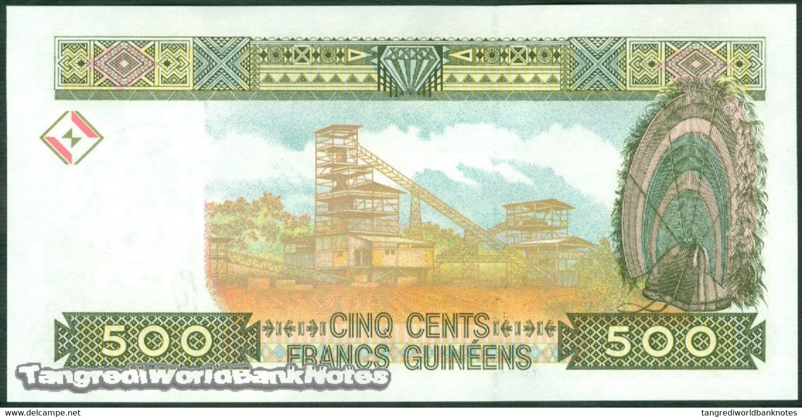 TWN - GUINEA 36b - 500 Francs 1998 Prefix JN UNC - Guinea