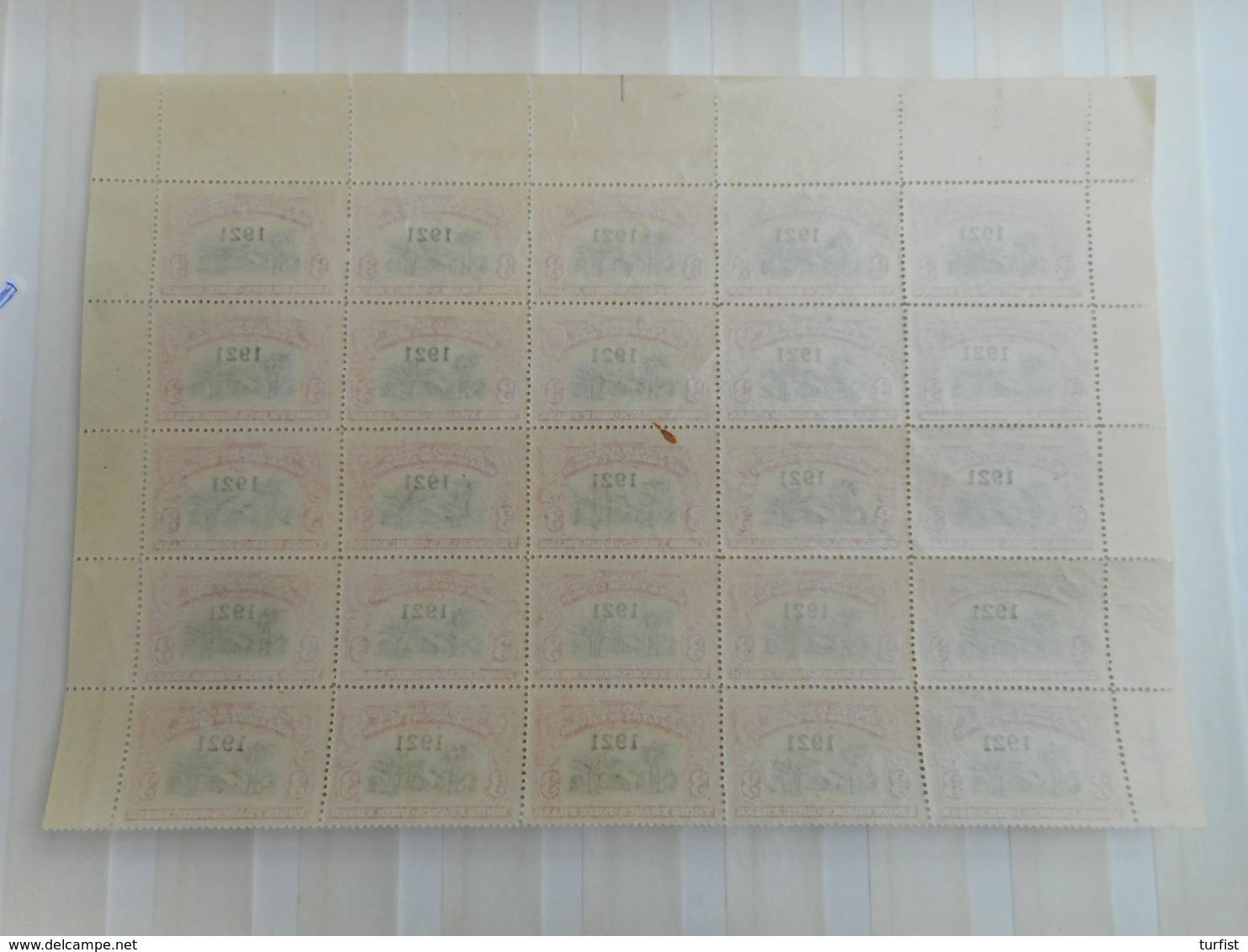 Belgisch Congo Vel Van 20 Zegels Nr 92 **waarvan 1 Met Varieteit Kokosnoot + 5 Met WATERMERK (1 Zegel Met Gaatje) - Belgisch-Kongo