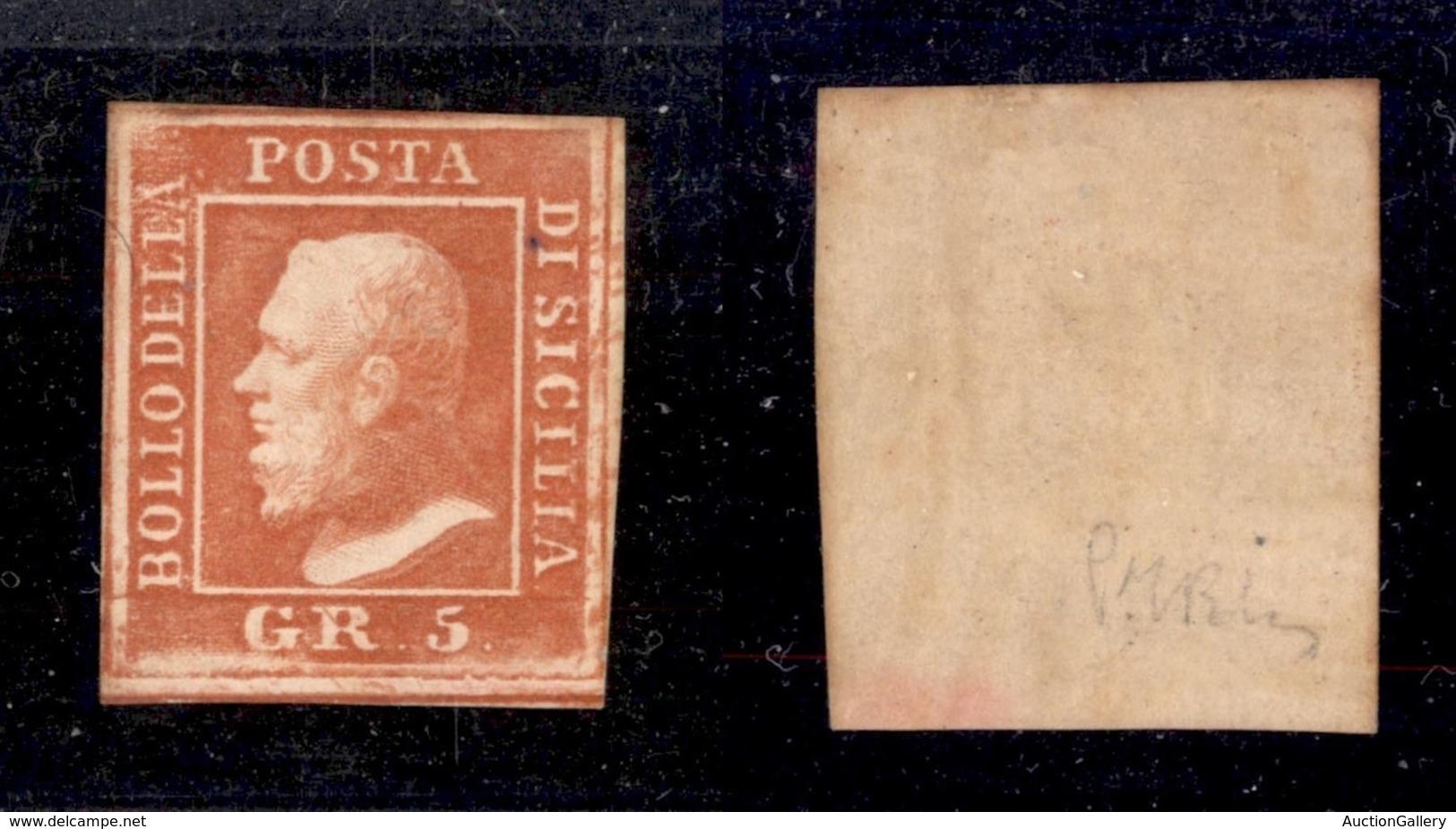 ANTICHI STATI ITALIANI - SICILIA - 1859 - 5 Grana (11) - Gomma Originale - Sellos