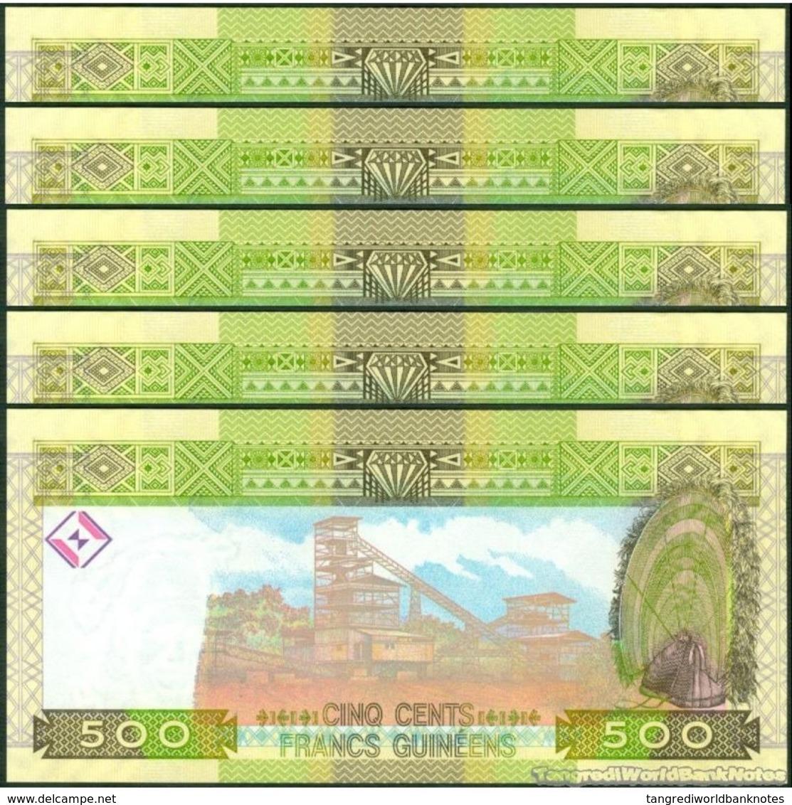 TWN - GUINEA 39b - 500 Francs 2012 DEALERS LOT X 5 - Prefix KO UNC - Guinea