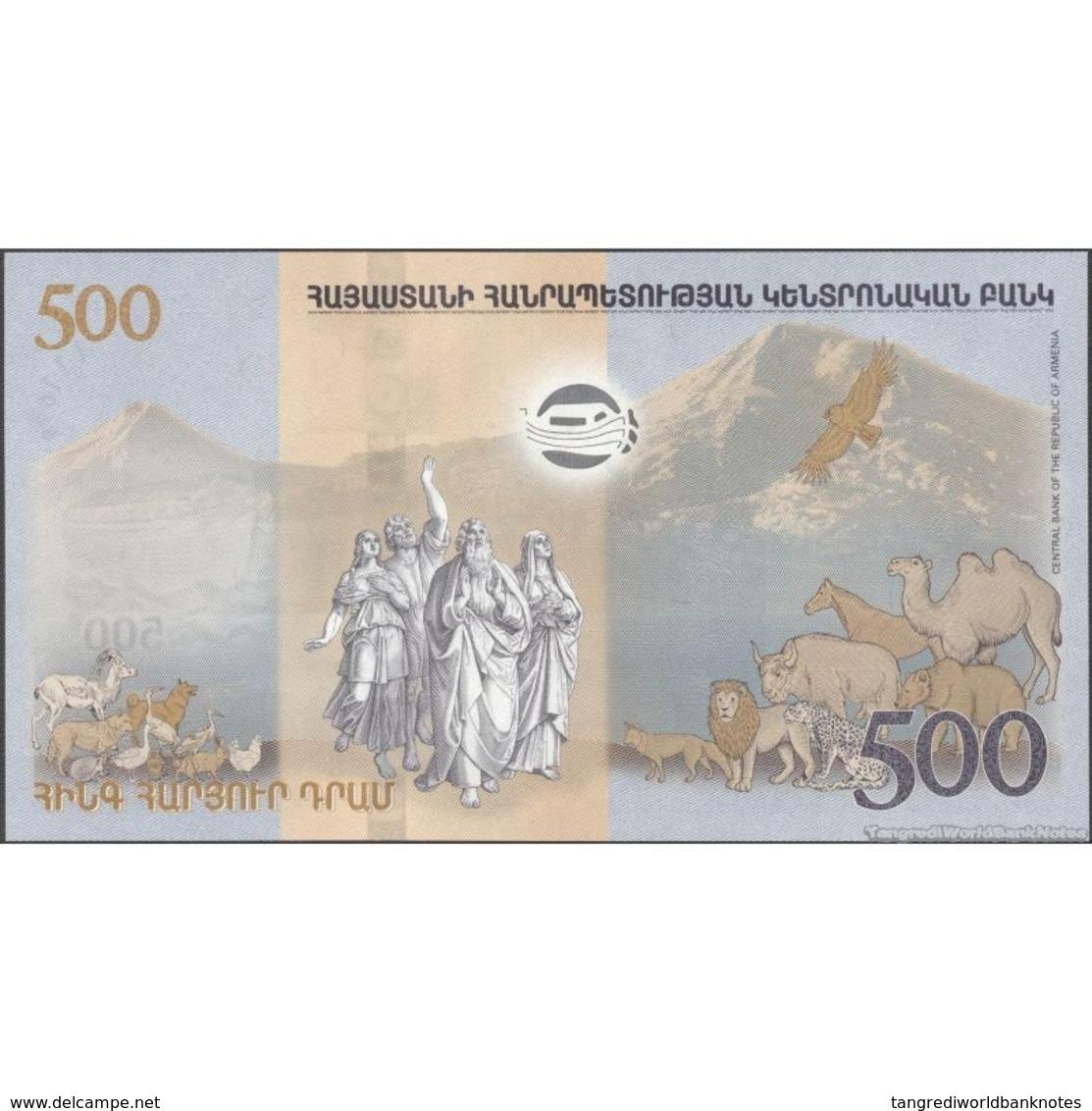 TWN - ARMENIA 60 - 500 Dram 2017 Hybrid - Noah's Ark UNC - Armenia