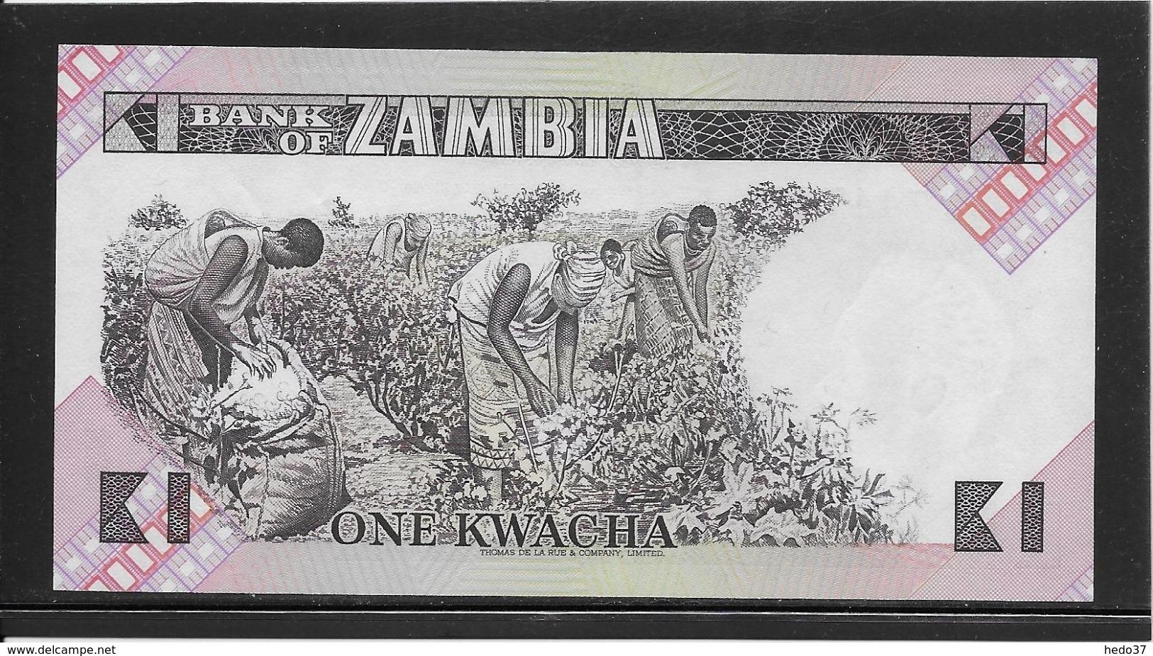 Zambie - 1 Kwacha - Pick N°23a - NEUF - Zambia