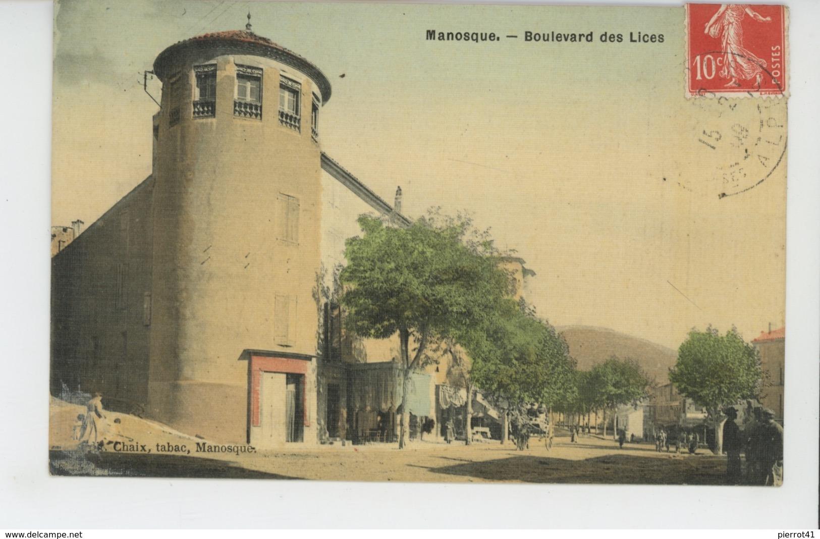 MANOSQUE - Boulevard Des Lices (belle Carte Toilée ) - Manosque