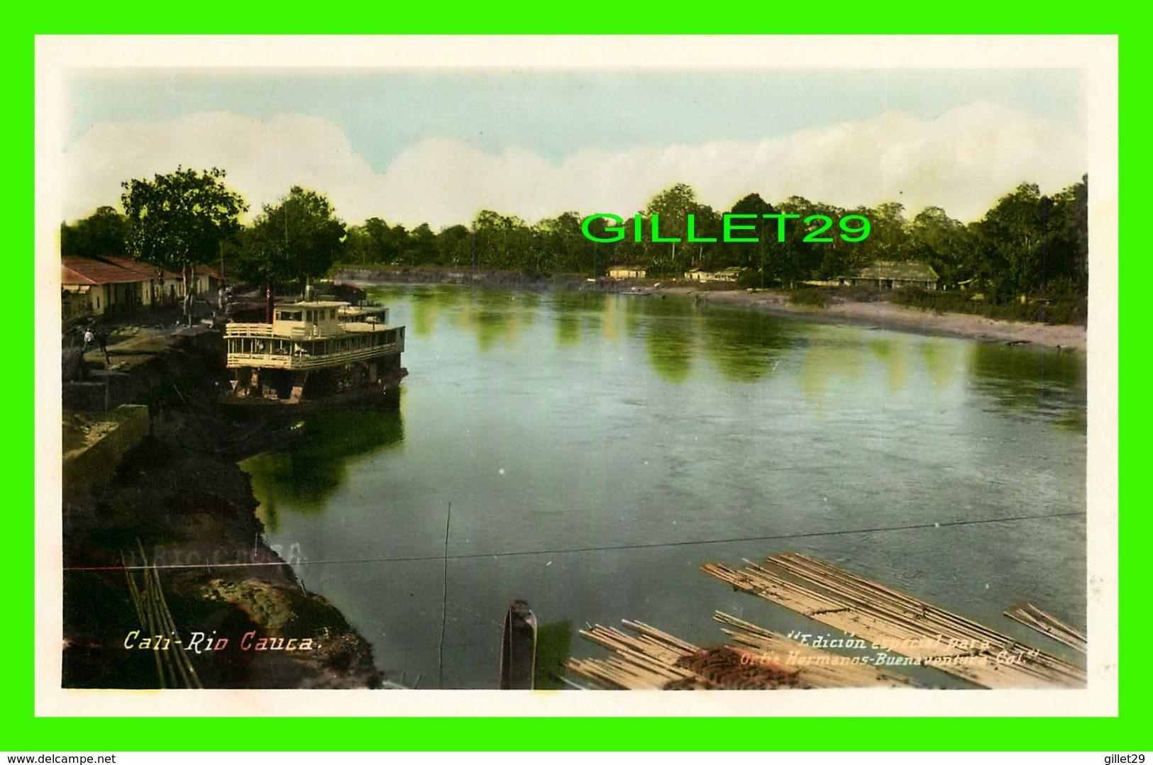 CALI, COLOMBIE - RIO CAUCA - ANIMATED WITH SHIP - EDICION ESPECIAL PARA, ORTIZ HERMANOS BUENA VENTURA - - Colombie