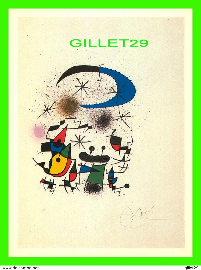PUBLICITÉ - MIRO MARRANT À MONTRÉAL EN 1986, MUSÉE DES BEAUX-ARTS - PETITE FÊTE DE NUIT, 1973 - 12.5 X 17.5 Cm - Publicité
