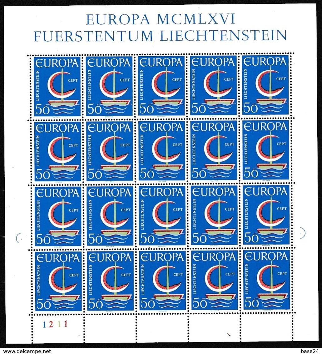1966 Liechtenstein EUROPA CEPT EUROPE 20 Serie MNH** In Minifoglio Minisheet - Europa-CEPT