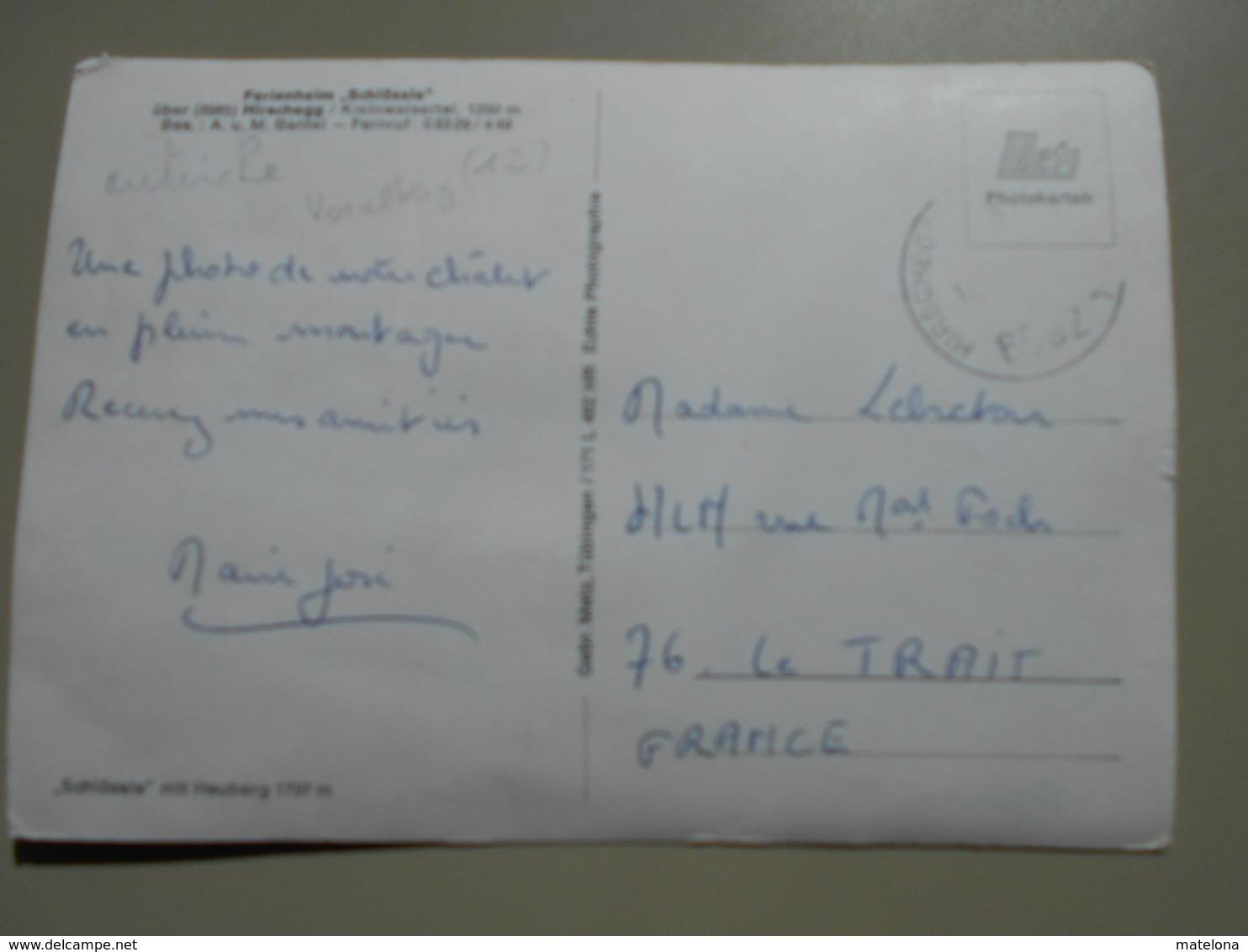 AUTRICHE VORARLBERG FERIENHEIM SCHLÖSSLE ÜBER HIRSCHEGG / KLEINWALSERTAL - Kleinwalsertal