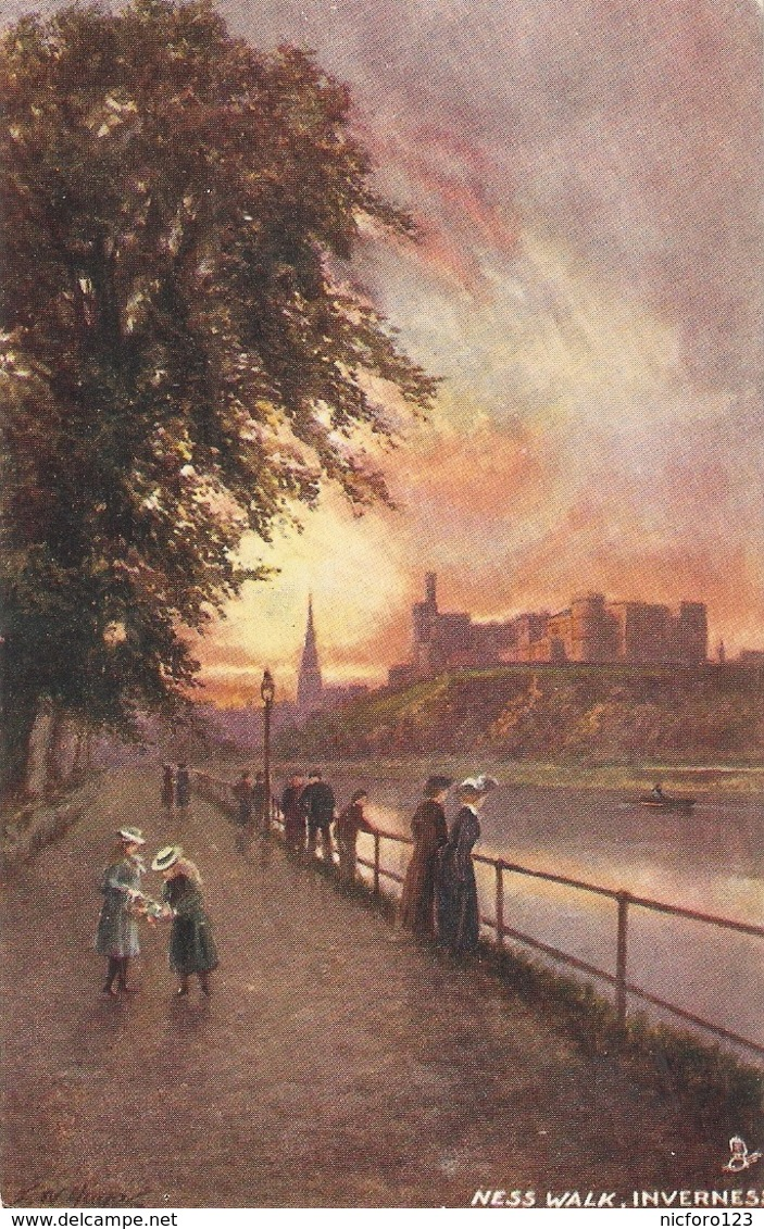 "F.W.Hayes, Inverness. Ness Walk"" Tuck Oilette PC # 7187 - Tuck, Raphael"