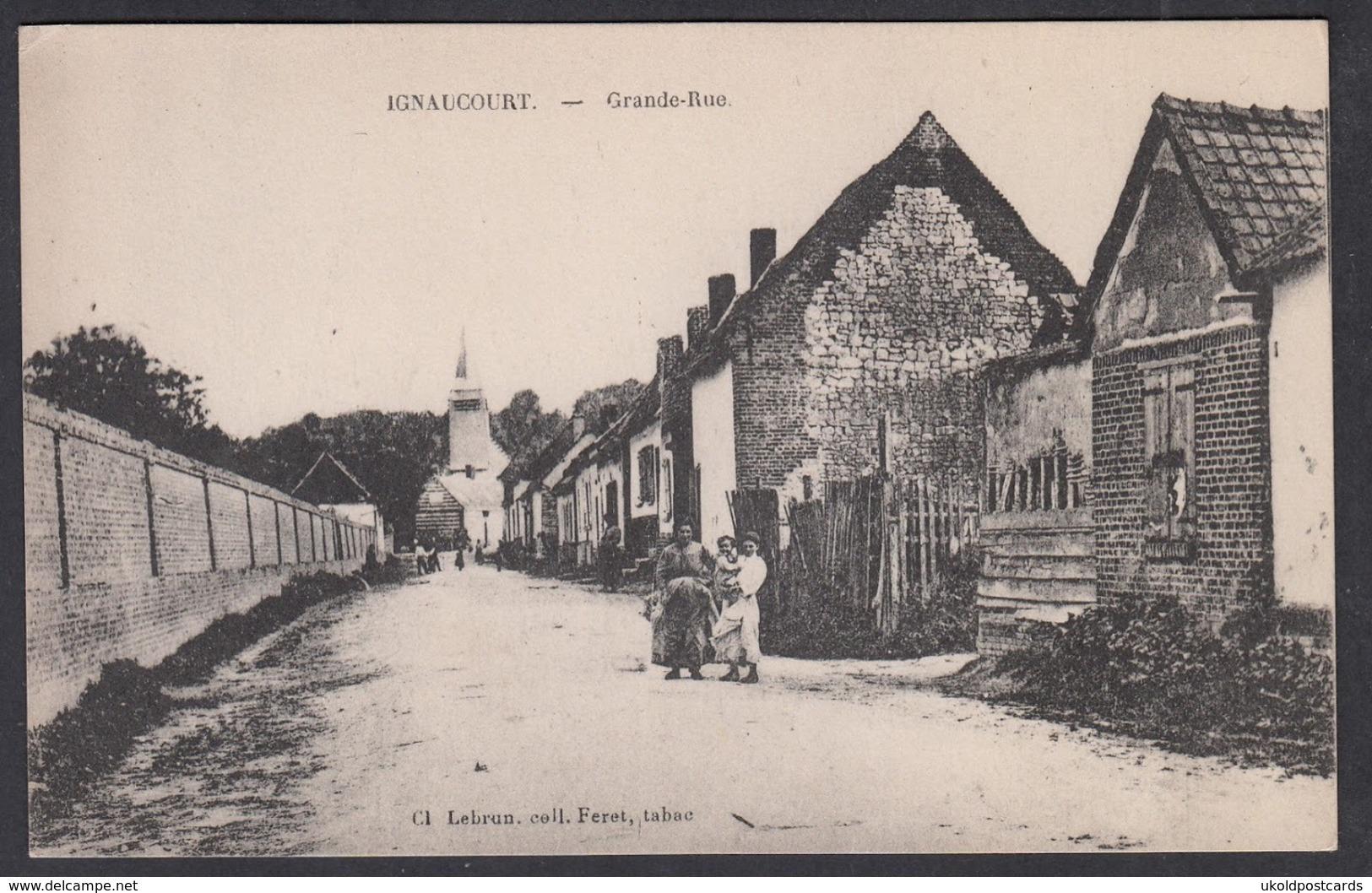 CPA 80 -  IGNAUCOURT, Grande Rue - Francia