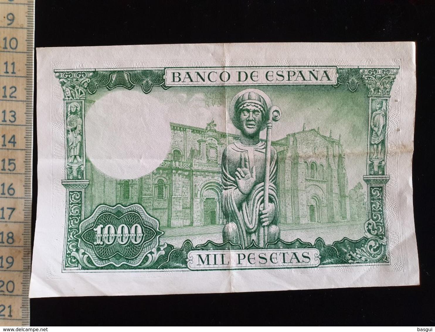 Billet 1000 Pesetas, Espagne, 1965 - 1000 Pesetas