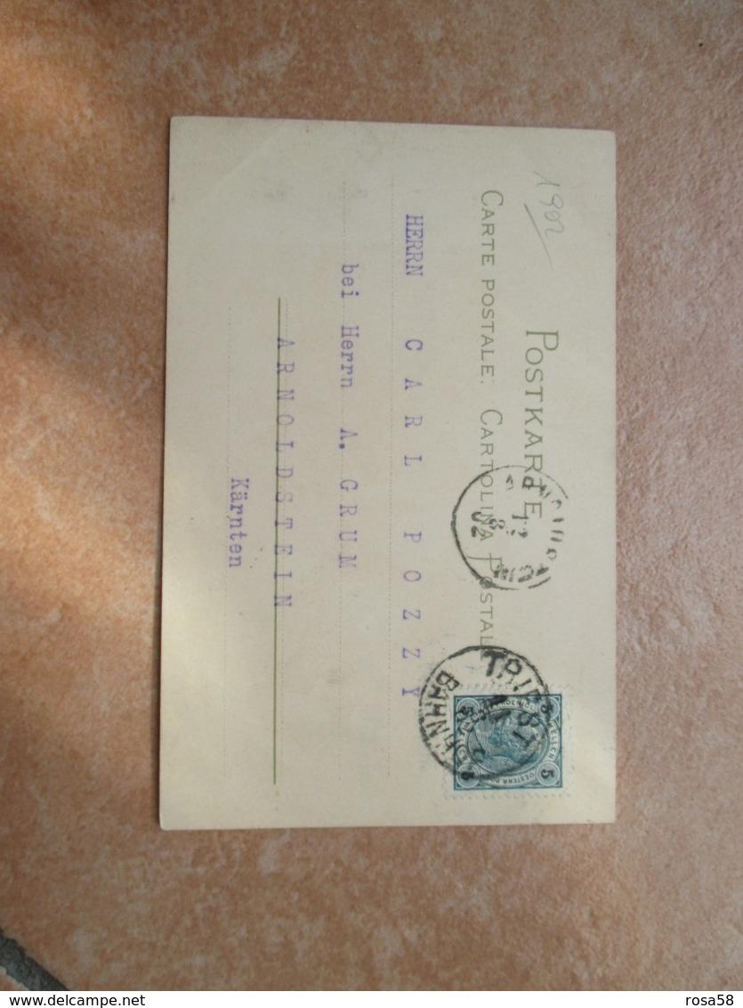 1902 Donnine Woman GIAPPONESE Lanterna Viaggiata Austria - 1900-1949