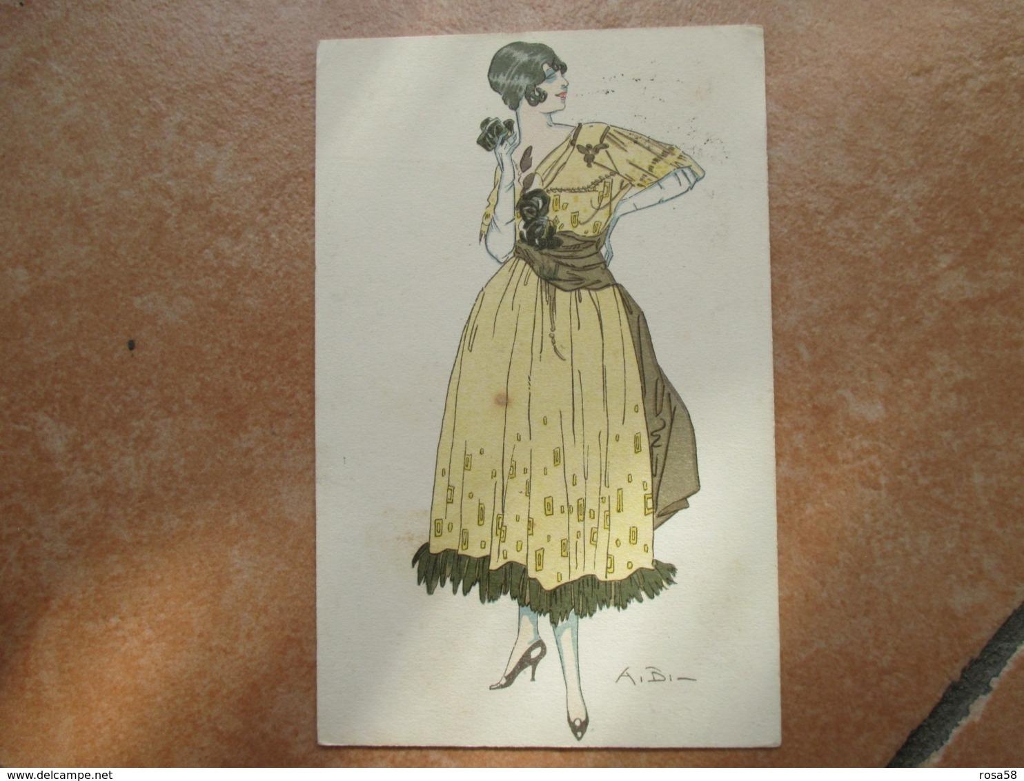 Donnine Woman 1918 Viaggiata Posta Militare Illustratore A.BI. - Künstlerkarten
