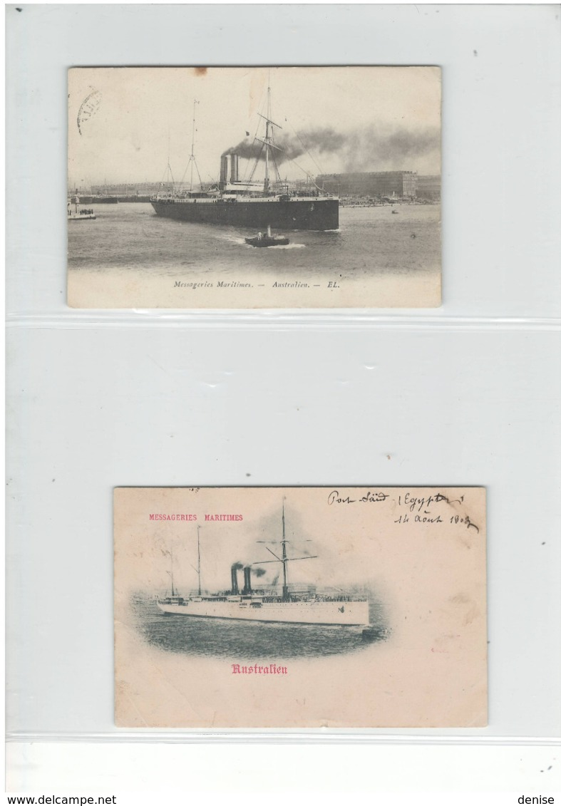 Collection De 60 Cartes Postales Des Paquebots Et Navires Francais : DEPART 1 EURO - Steamers