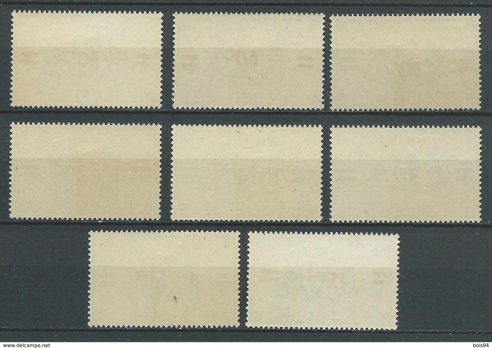 REUNION 1945 . Série N°s  252 à 259 . Neufs  ** (MNH) - Réunion (1852-1975)