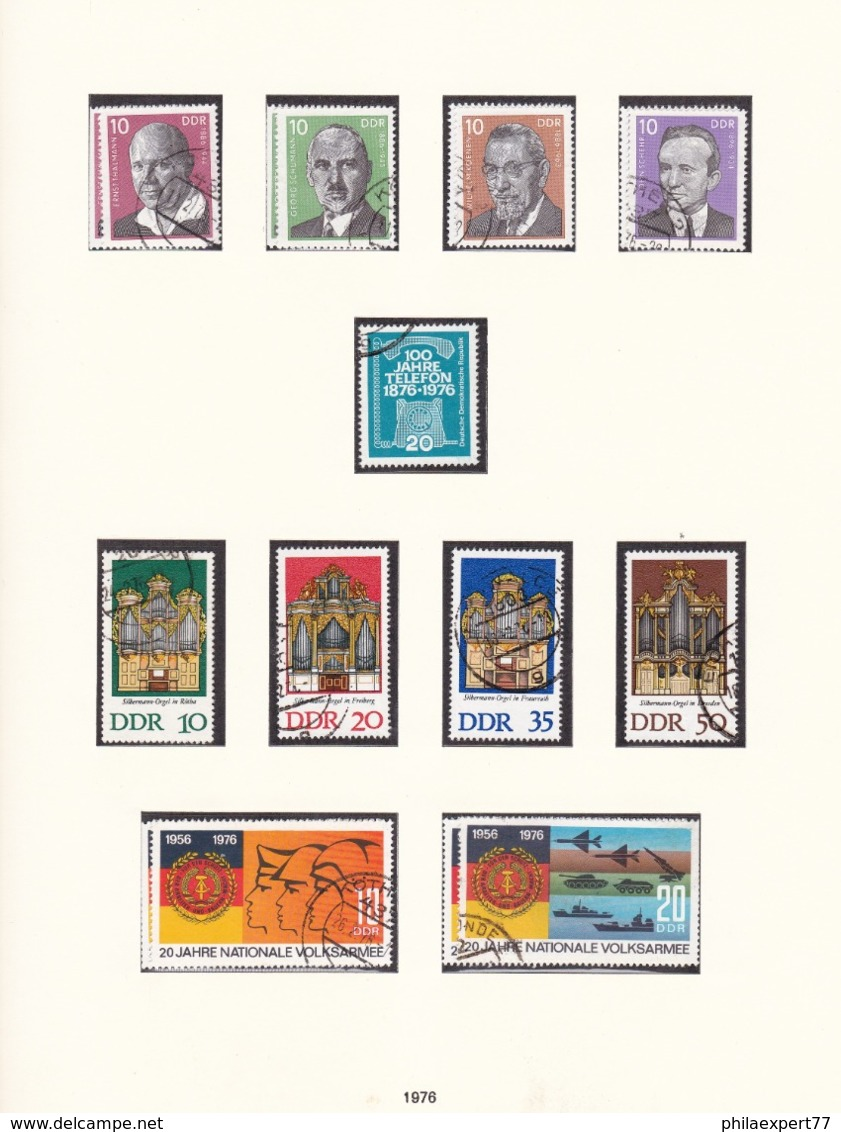 DDR - 1976 - Sammlung - Gest. - Gebraucht