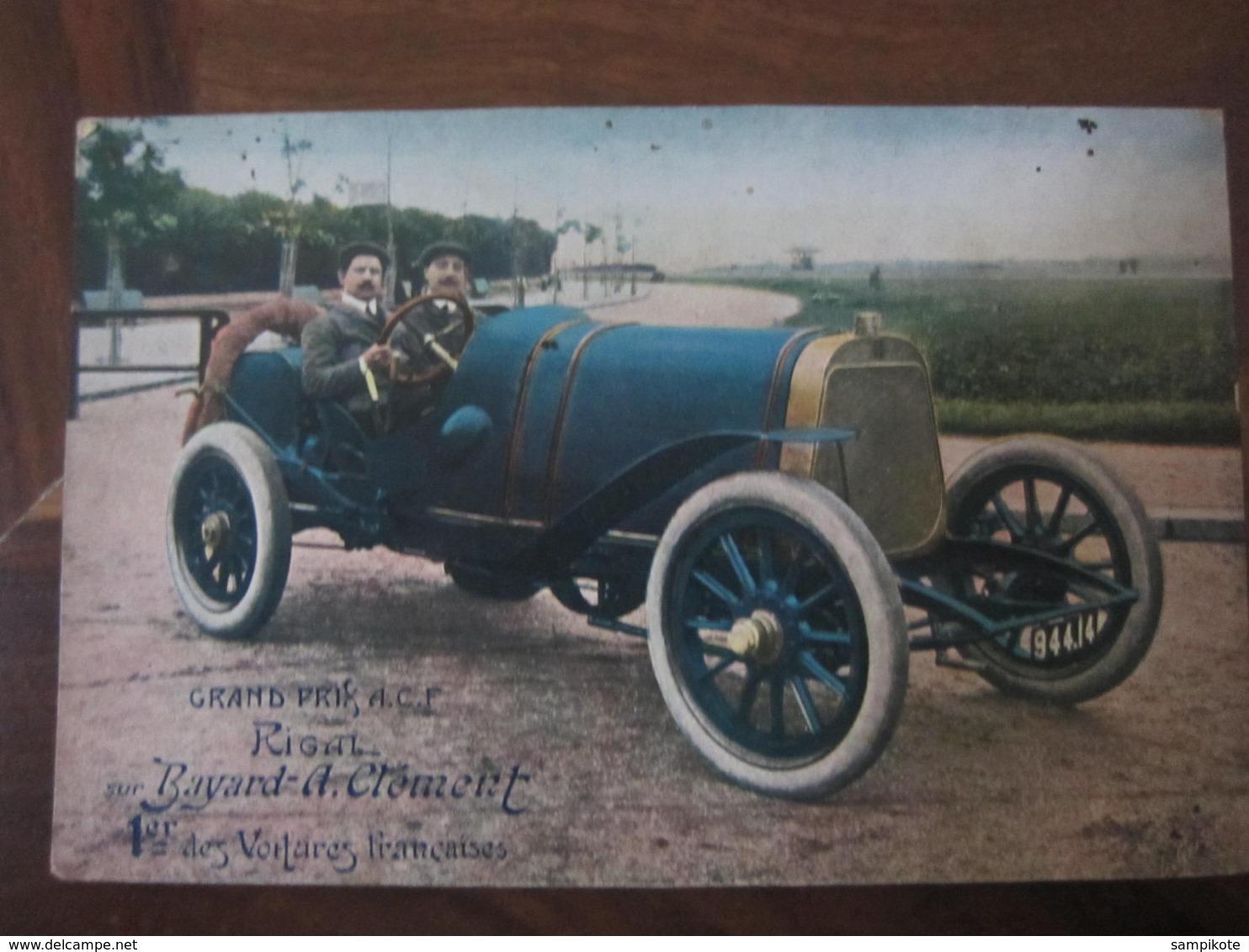 Carte Postale Voiture Ancienne Grand Prix ACF Bayard - A.Clément - Cartoline