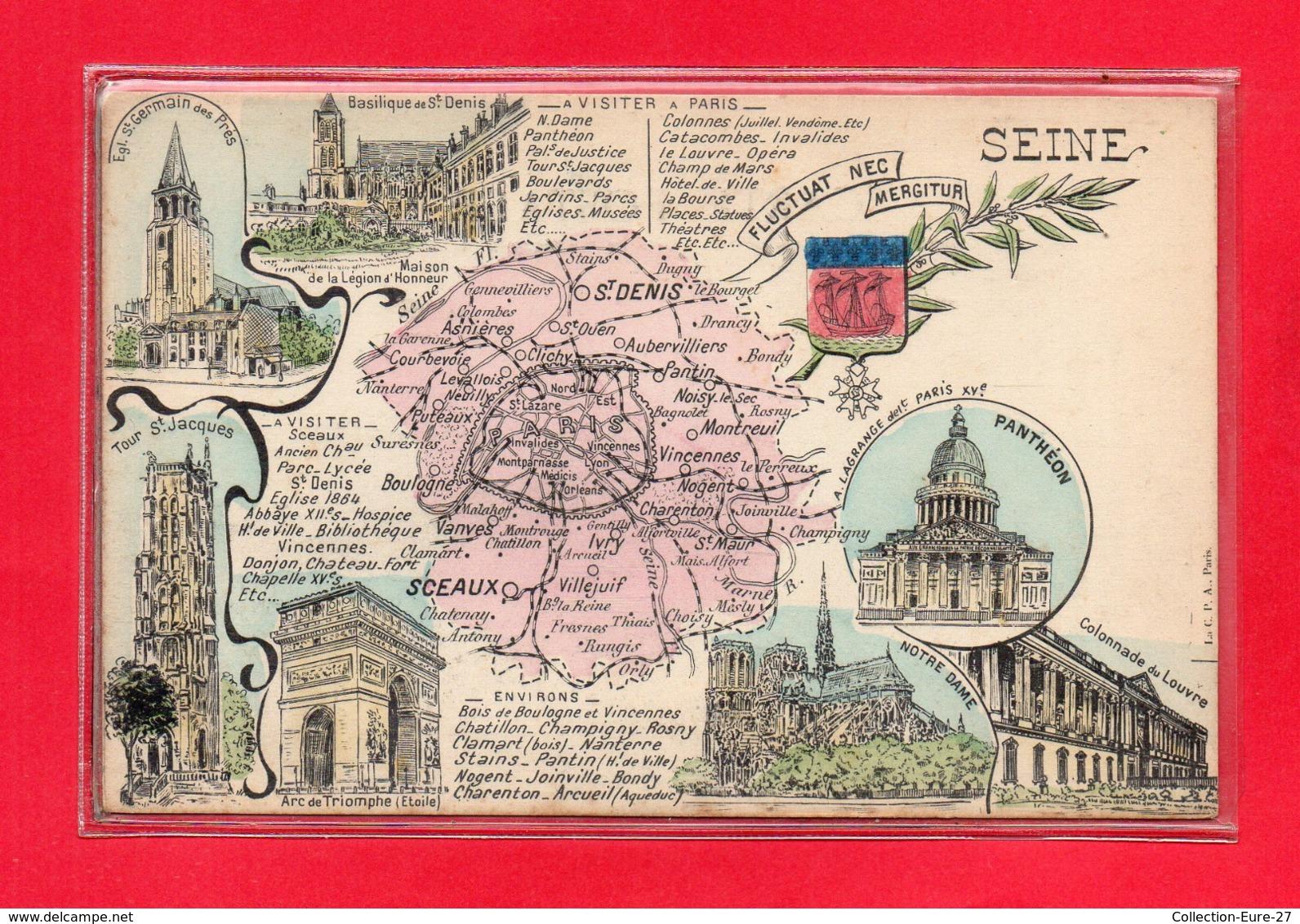 92-CPA CARTE GEOGRAPHIQUE - Francia