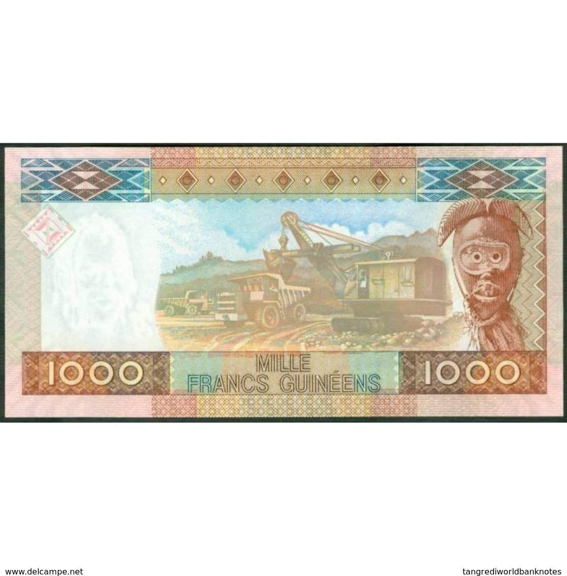 TWN - GUINEA 40 - 1000 1.000 Francs 2006 Prefix AU UNC - Guinea