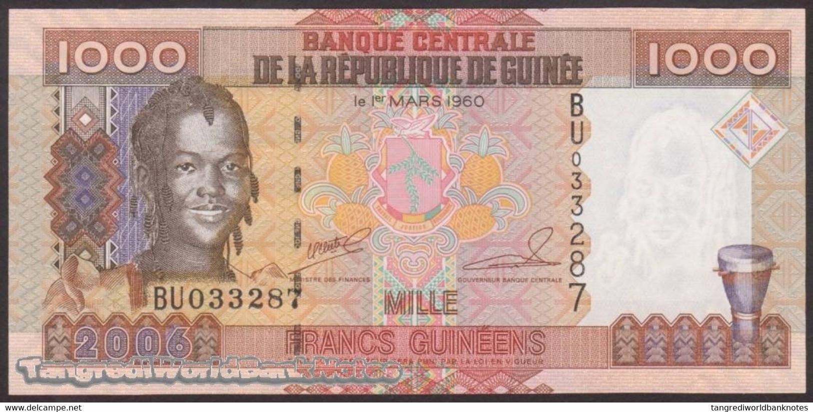 TWN - GUINEA 40 - 1000 1.000 Francs 2006 Prefix BU UNC - Guinee