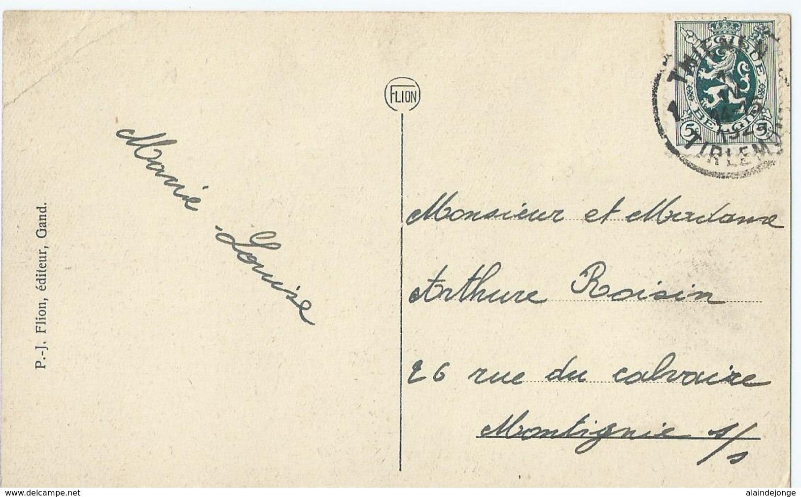 Tienen - Tirlemont - Marché-aux-Poulets Et Tour De L'Eglise Notre-Dame - Kiekenmarkt En O.L.V. Kerktoren - 1929 - Tienen