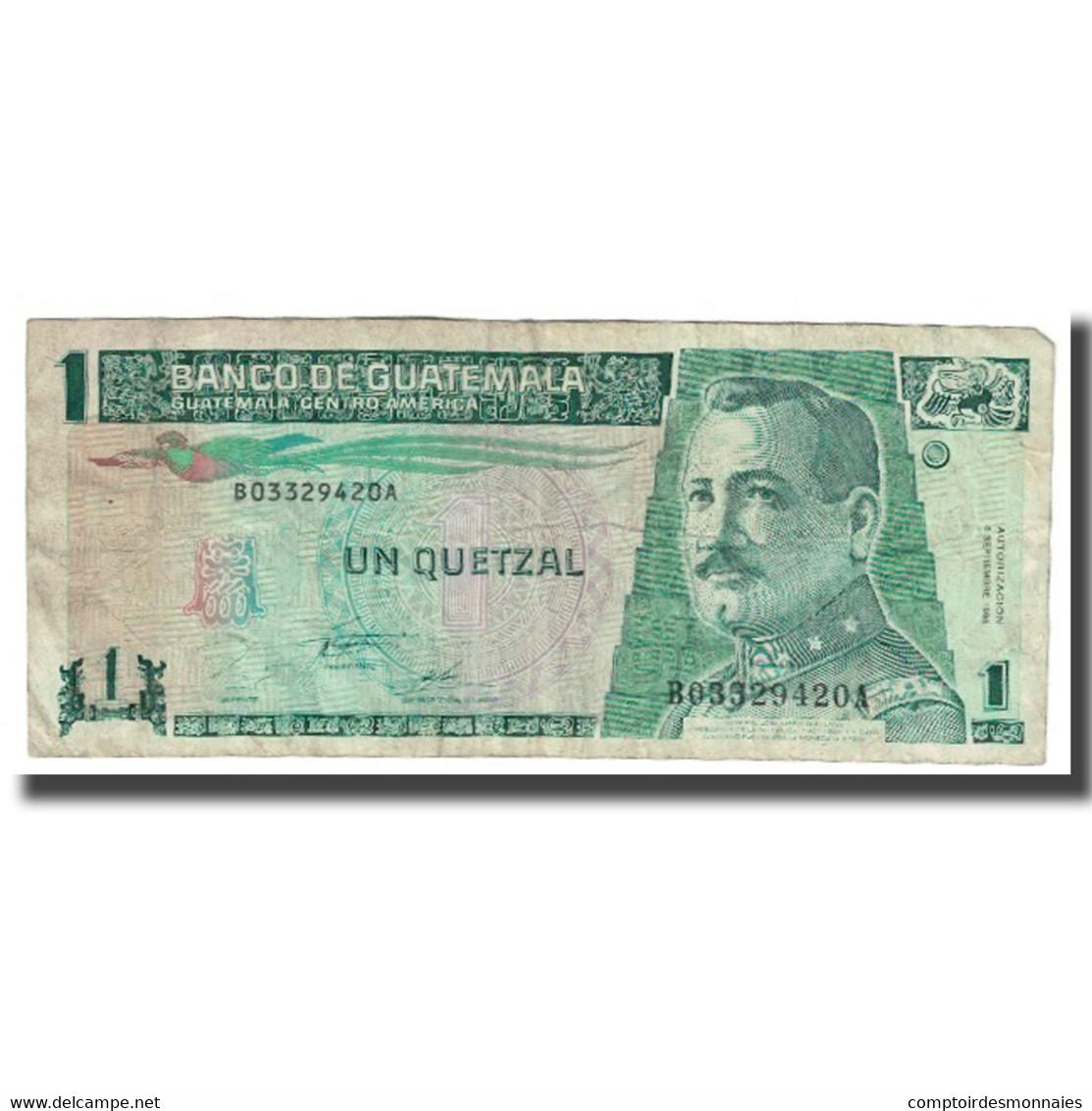 Billet, Guatemala, 1 Quetzal, 1995, 1995-09-06, KM:66, TB - Guatemala