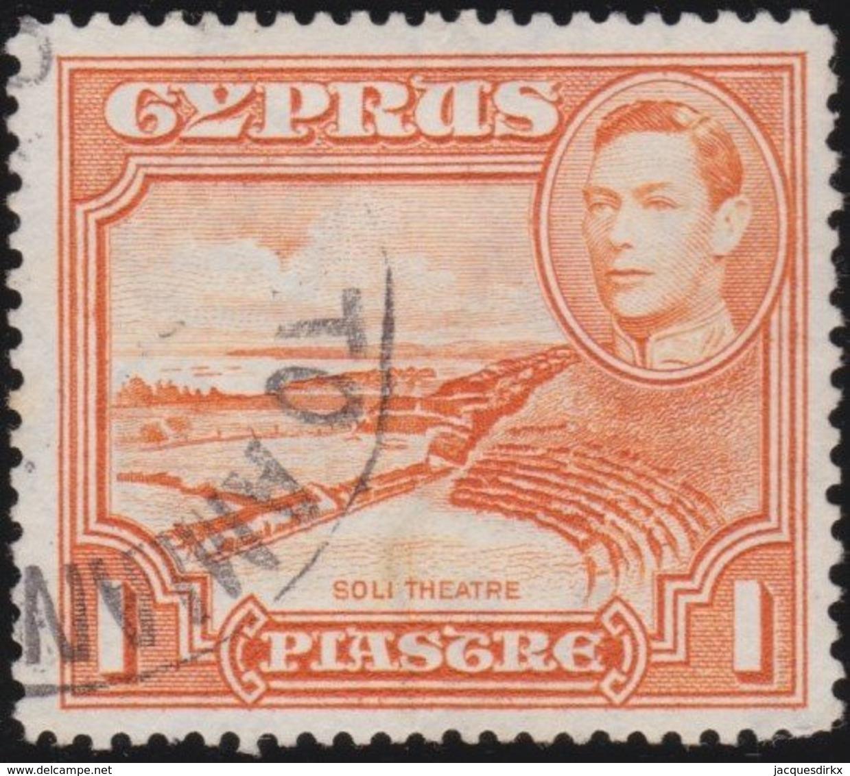 Cyprus     .    SG     .    154a   13½x12½    .     O     .  Gebruikt    .     /    .    Cancelled - Cyprus (...-1960)